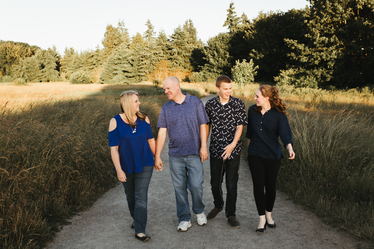 family of four in discovery park