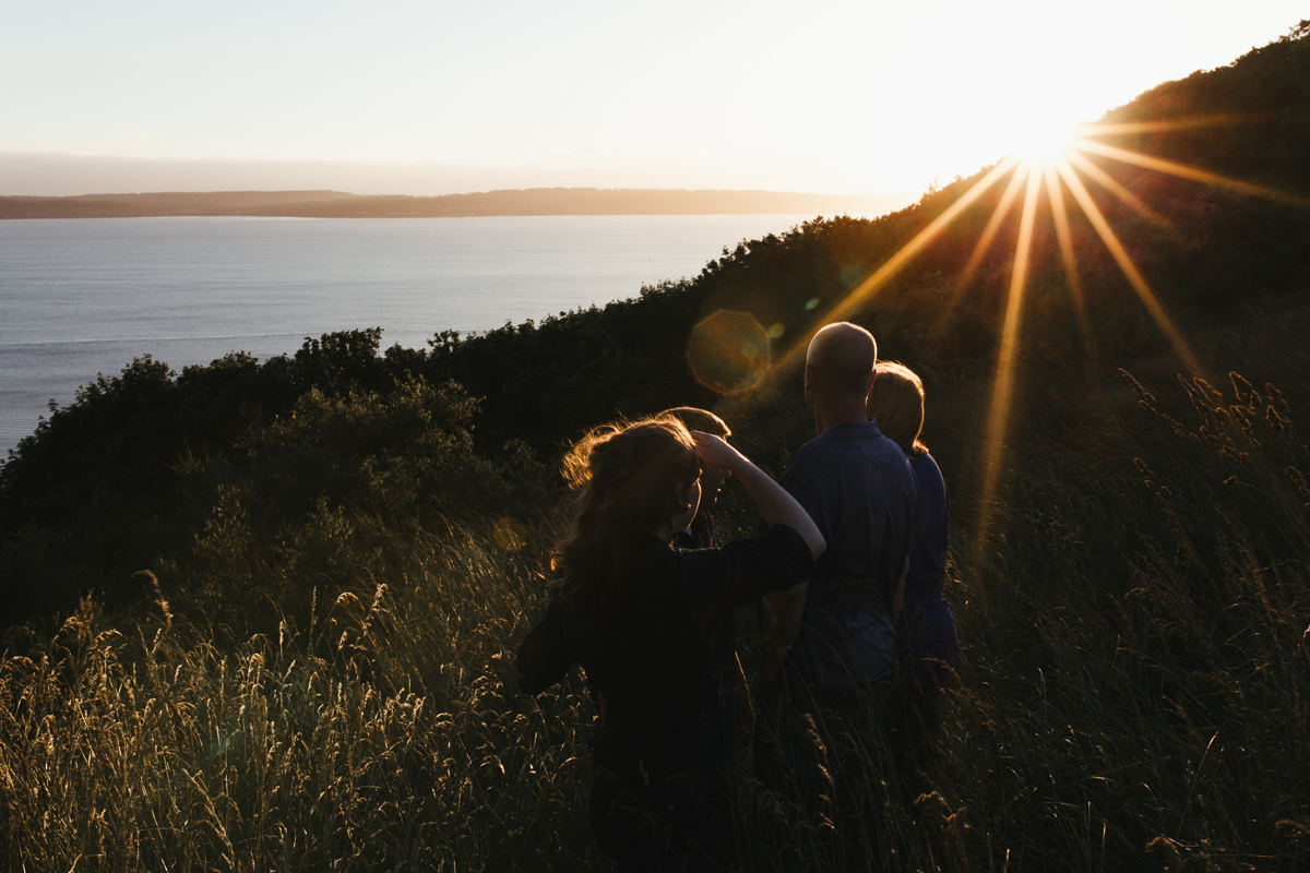sunset family photography seattle