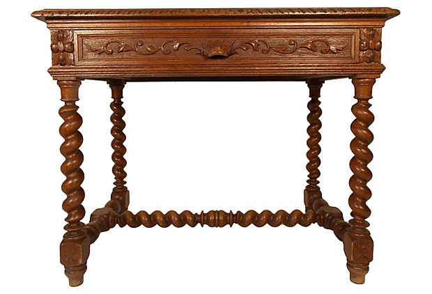 Carved French Library Table.jpg