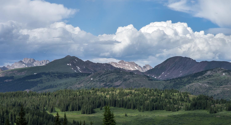 views from shrine ridge, shrine pass colorado