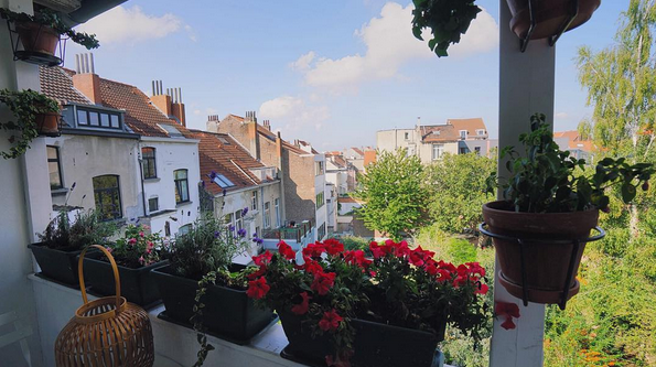 VIEW FROM OUR AIR BNB IN BRUSSELS BELGIUM // MEETYOUTHERE.ME IMAGE BY FRANKIEBOYPHOTOGRAPHY.COM