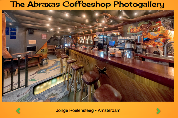 IMAGE BY JONGE ROELENSTEEG // IMAGE FROM ABRAXAS WEBSITE // COFFEE SHOPS OF AMSTERDAM
