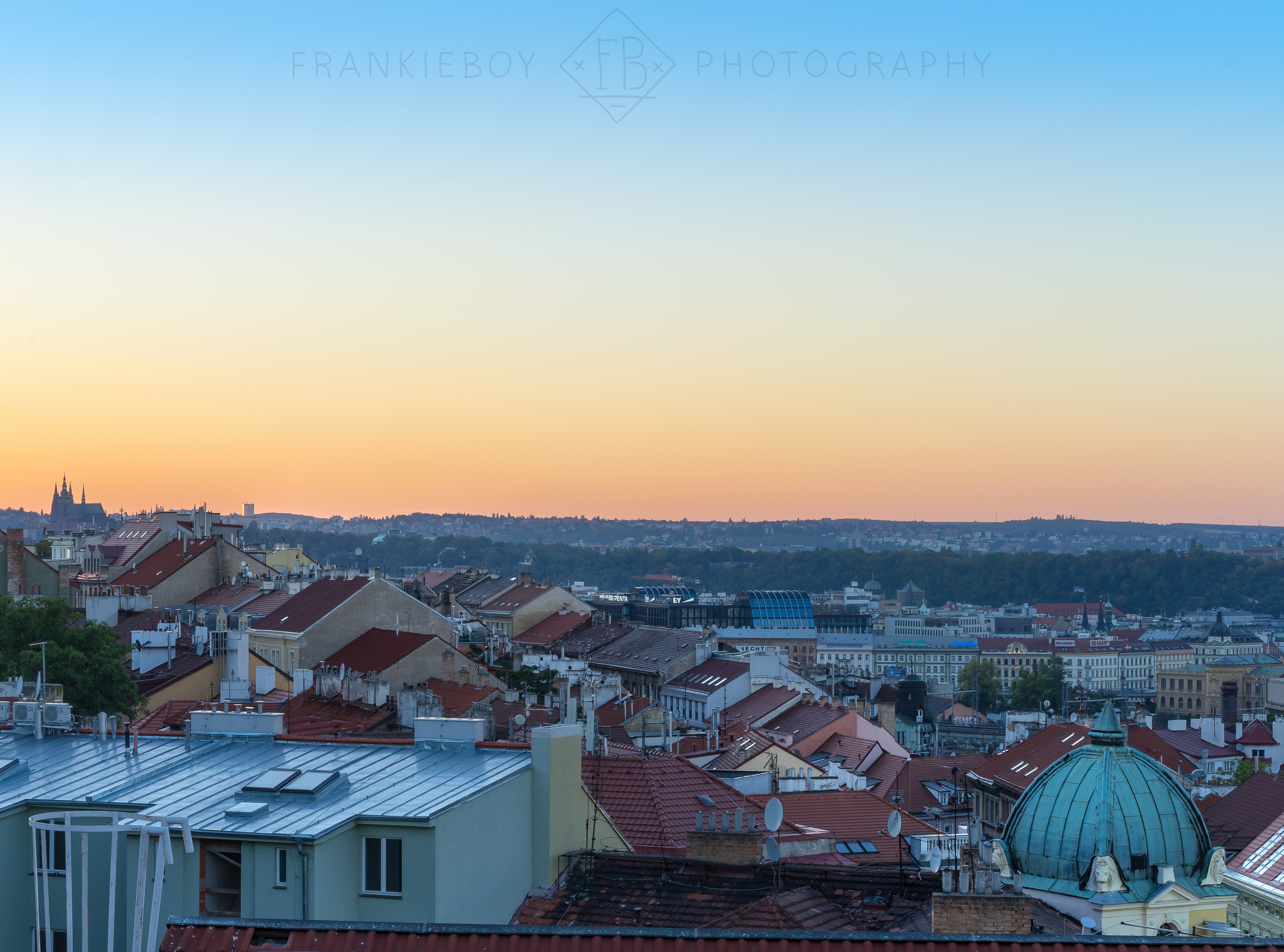 THE VIEW FROM OUR AIR BNB IN PRAGUE, CZECH REPUBLIC // IMAGE BY FRANKIEBOYPHOTOGRAPHY.COM