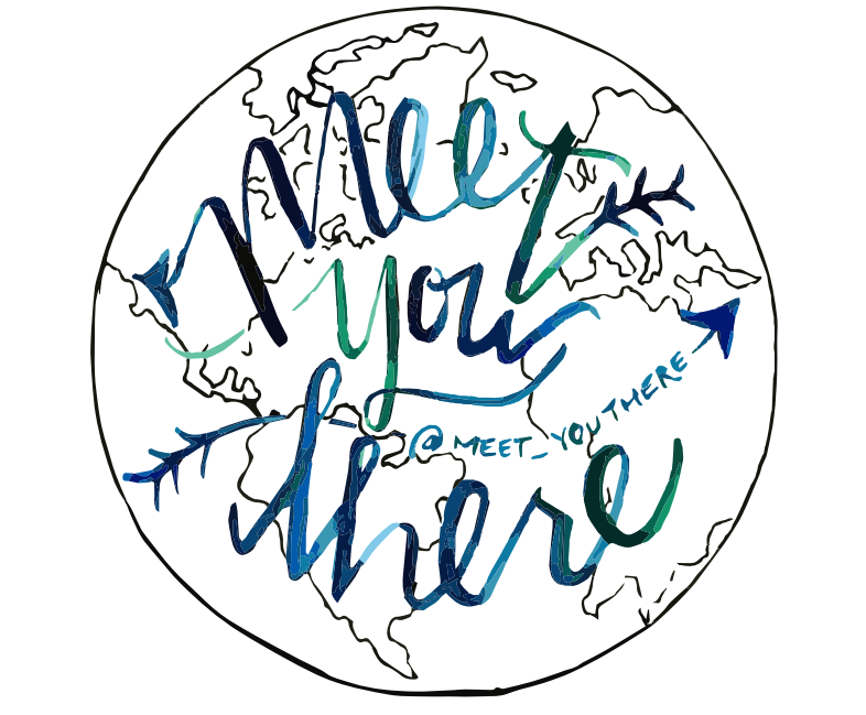 MEET YOU THERE MEESY PAINTER LOGO// MEETYOUTHERE.ME
