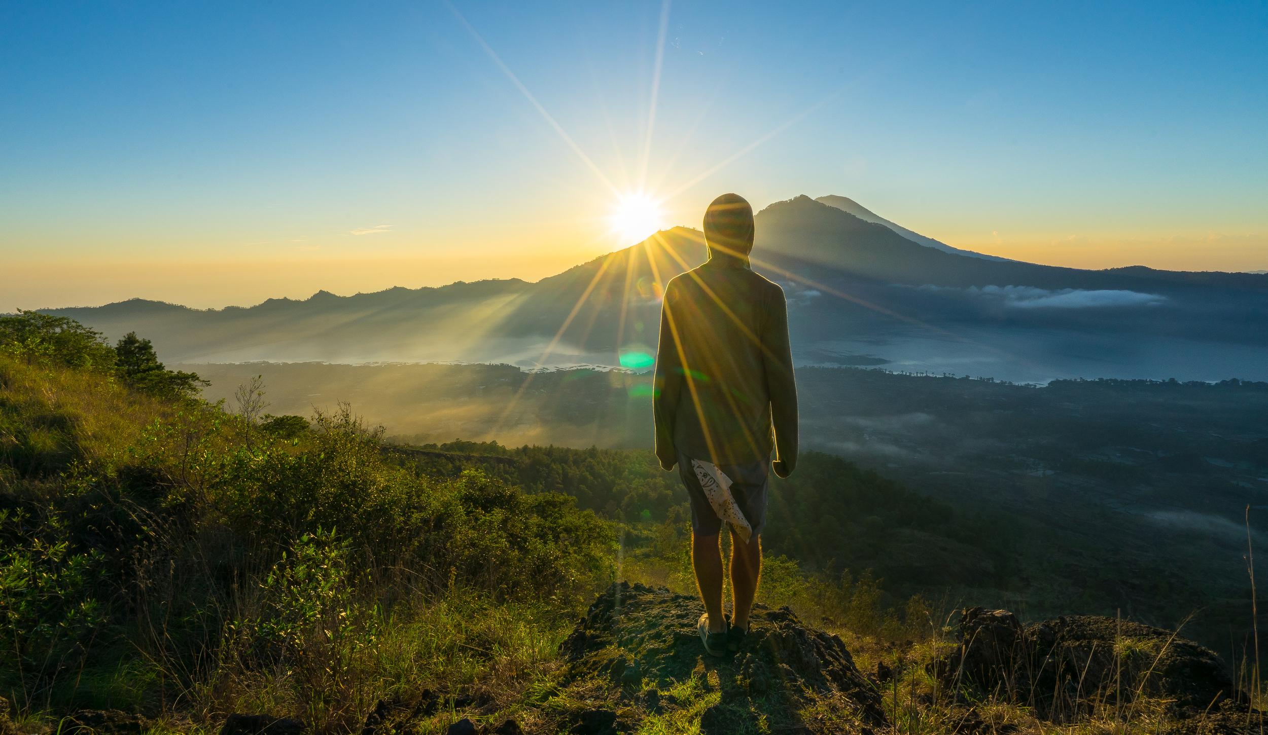 THE SUMMIT OF MT. BATUR, UBUD, INDONESIA