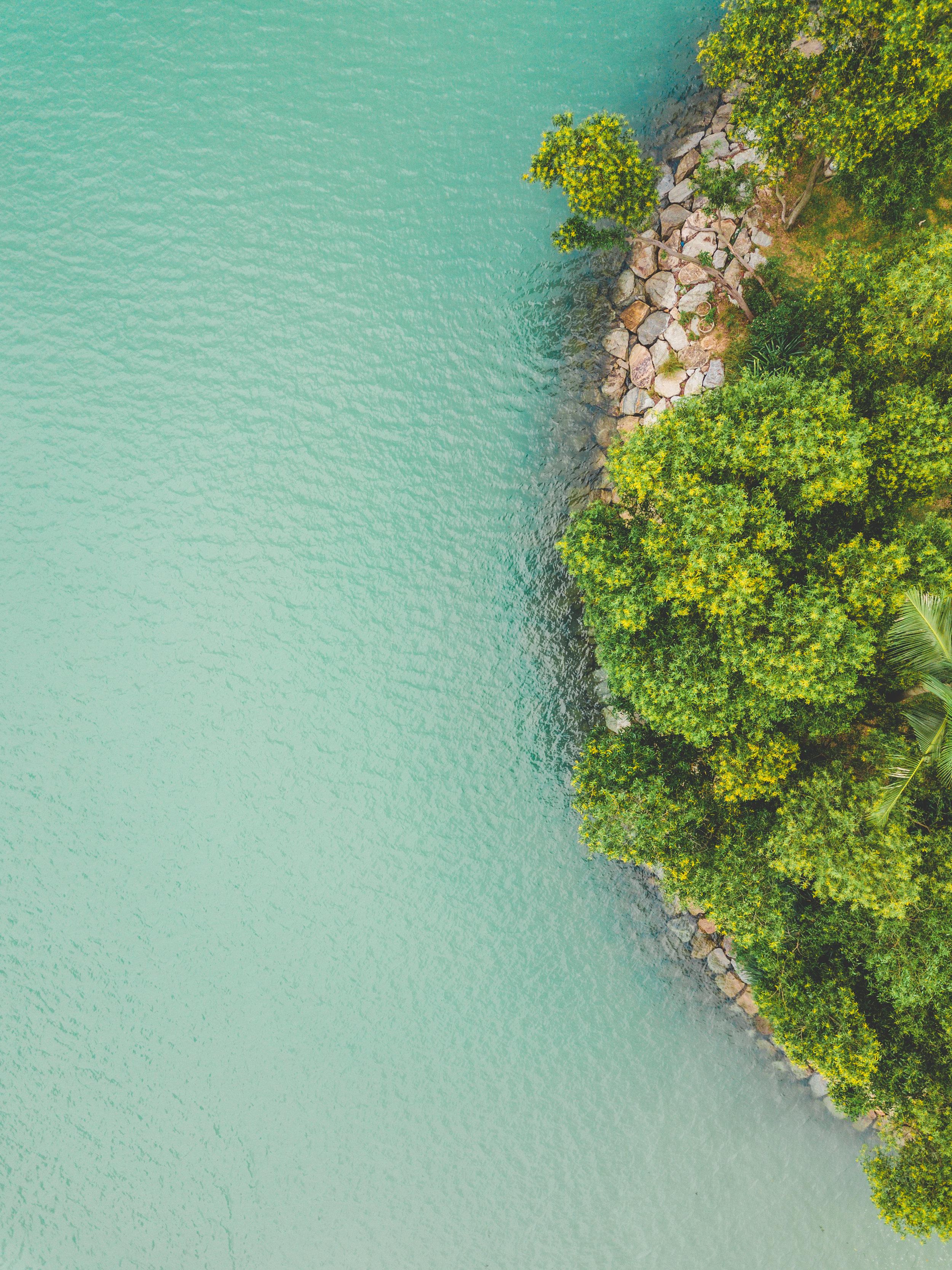 DRONE SHOTS ABOVE TAN JONG BEACH CLUB, SENTOSA ISLAND, SINGAPORE