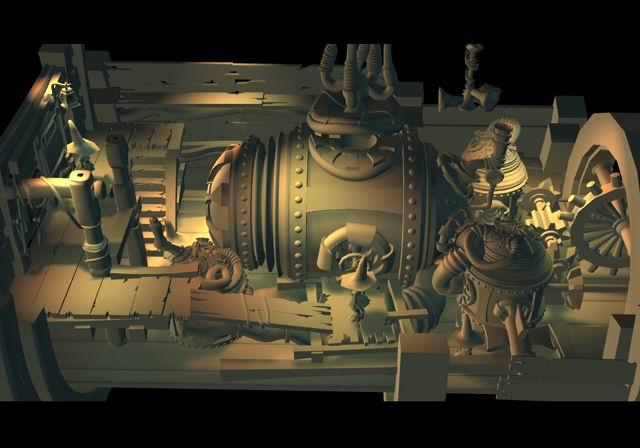 Engine Room    Modeling/Texture/Lighting:   Behrooz Roozbeh