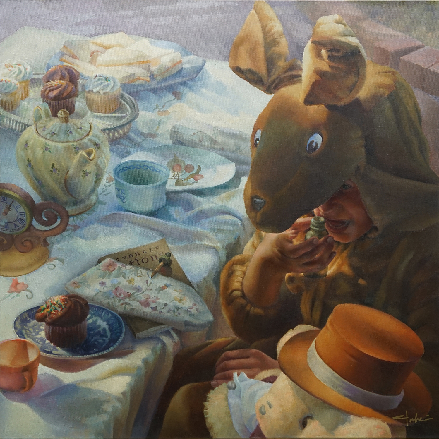 The Tea Party (left panel)