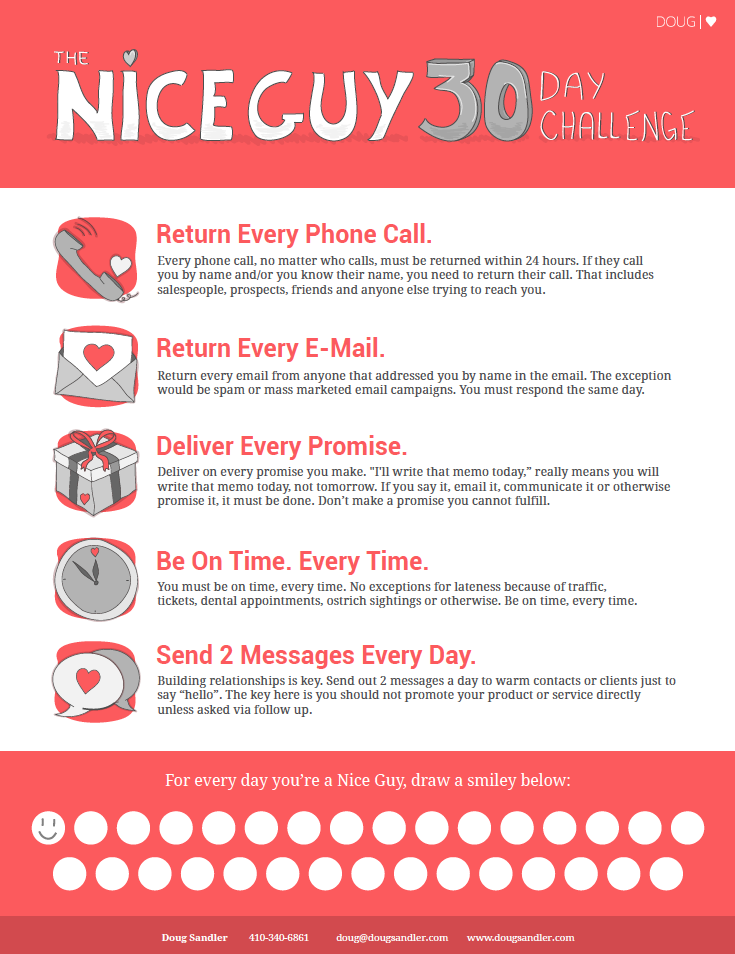 Become a Nice Guy in Just 30 Days! — Doug Sandler Blog