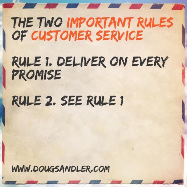 Customer Service Rules  Nice Guys Finish First Doug Sandler
