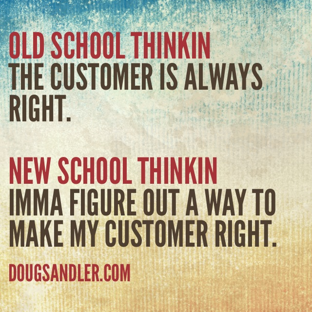 Old School thinking Customer Service Rules  Nice Guys Finish First Doug Sandler