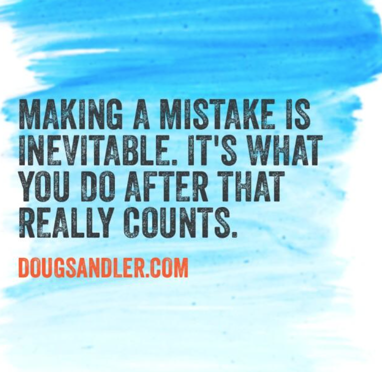 Mistakes and customers Customer Service Rules  Nice Guys Finish First Doug Sandler