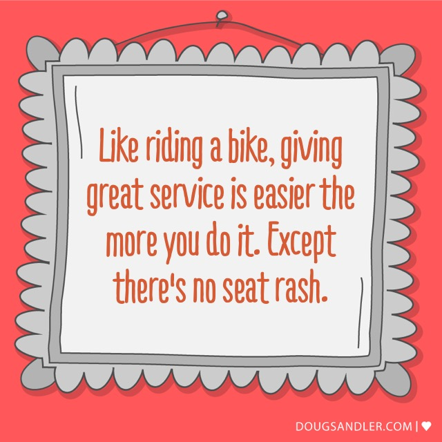 Bike riding and service