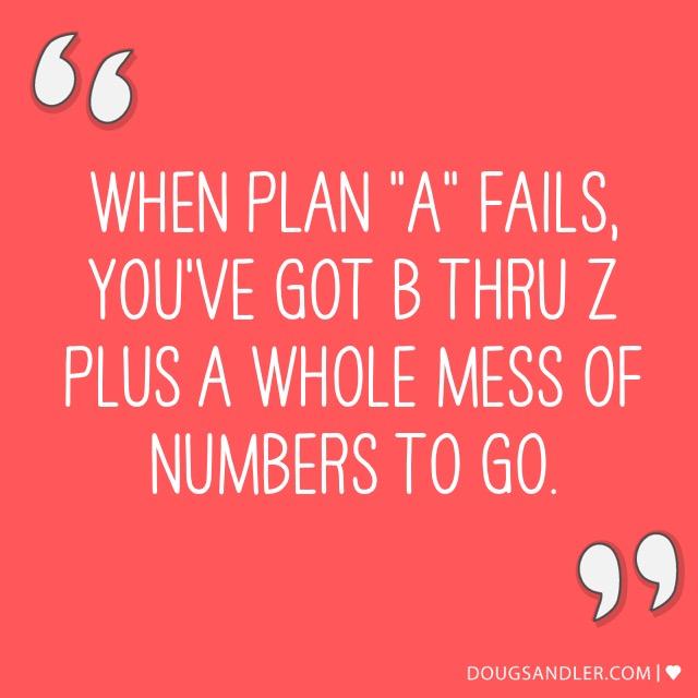 Plan A to Plan Z