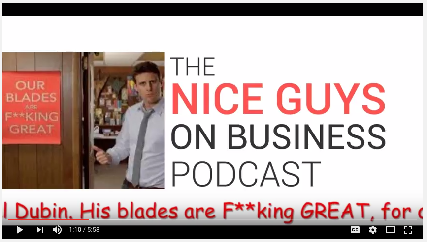 Dollar Shave Club Advertising Pitch....check it out on YouTube.