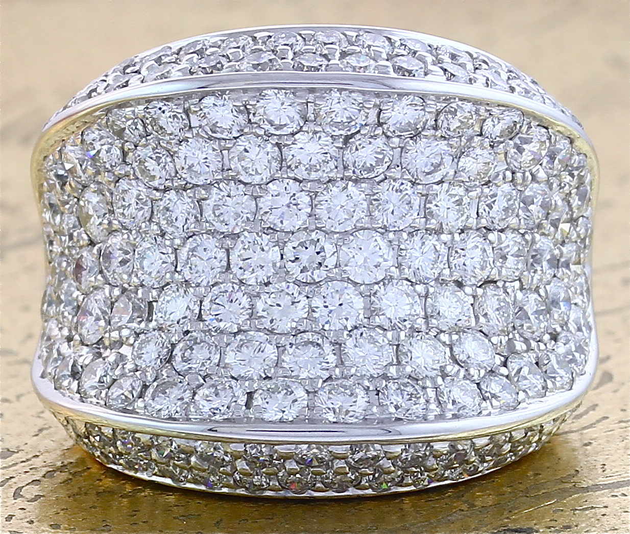 Cocktail Diamond Ring 7 Rows - Item No: 0011109A