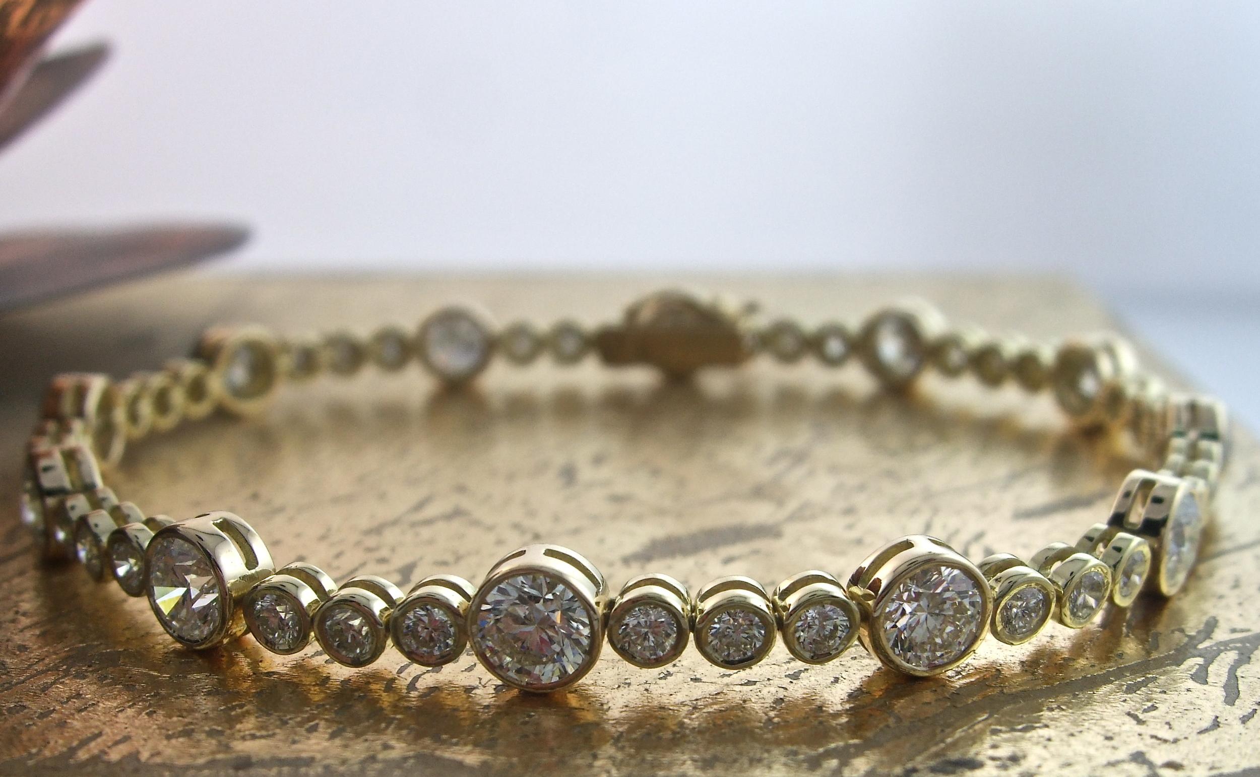 Tennis Bracelet in Bezel Setting - Item No: 0013528