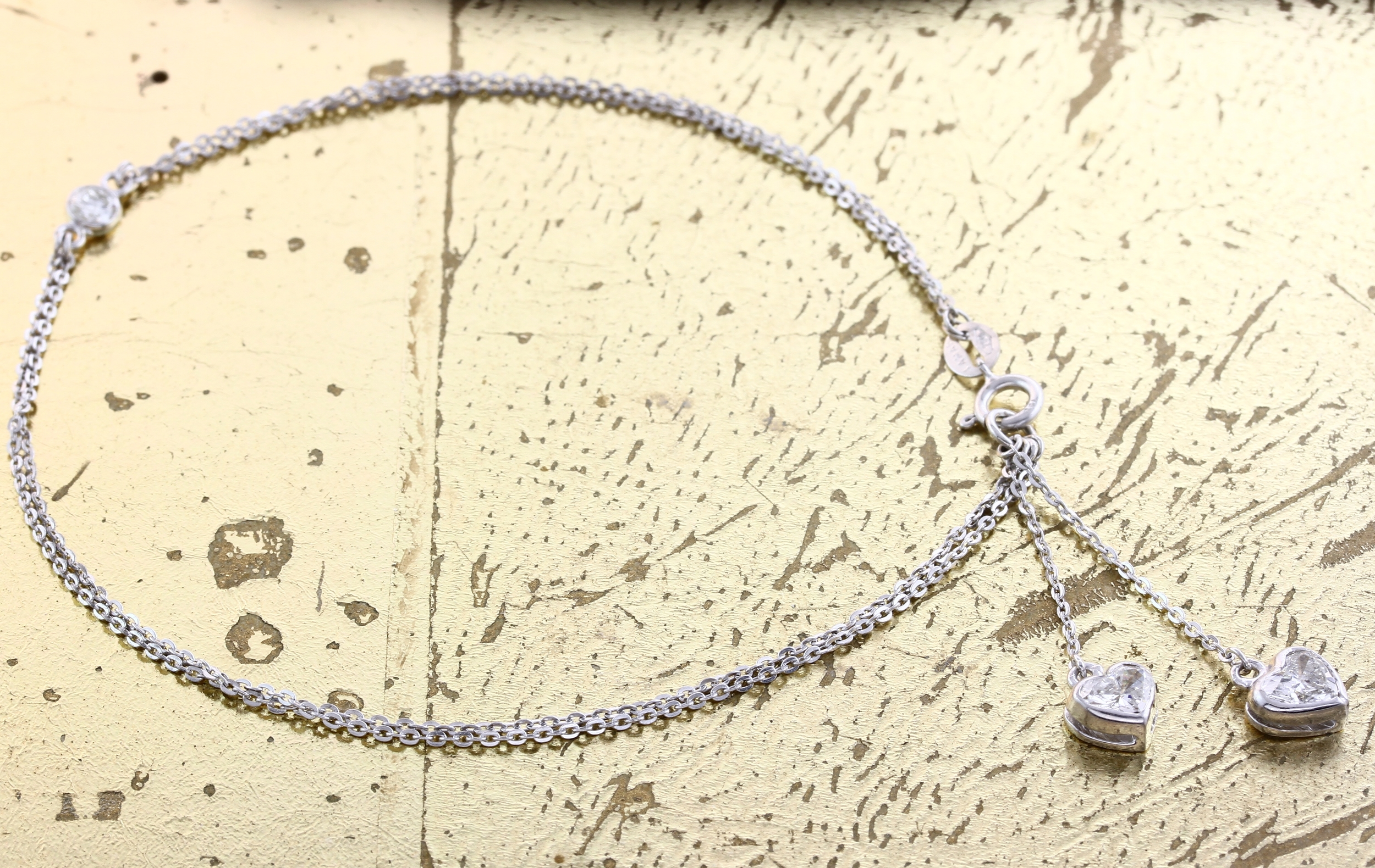Bracelet Heart & Round Shaped Diamonds - Item No: 0013825