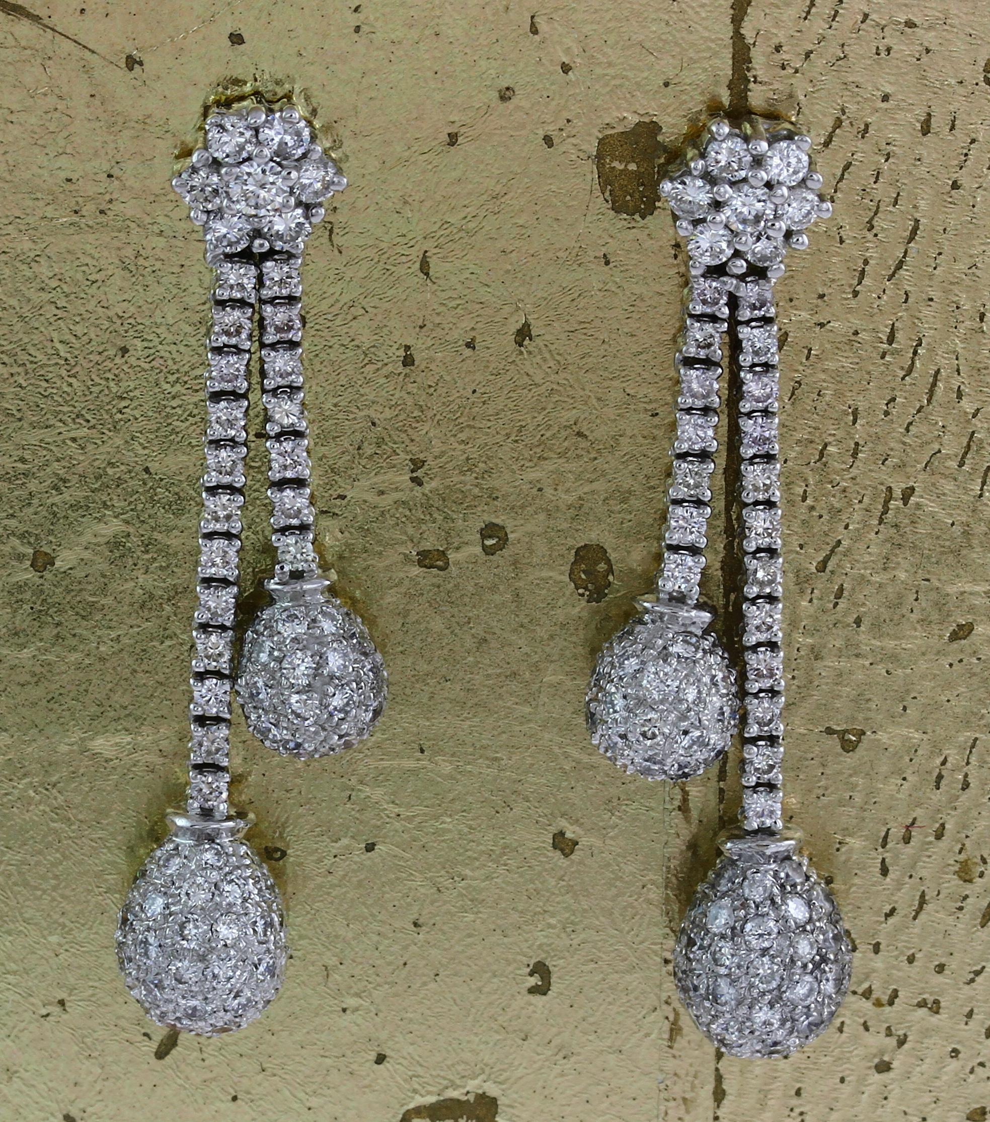 Diamond Long Earrings - Item No: 0013832
