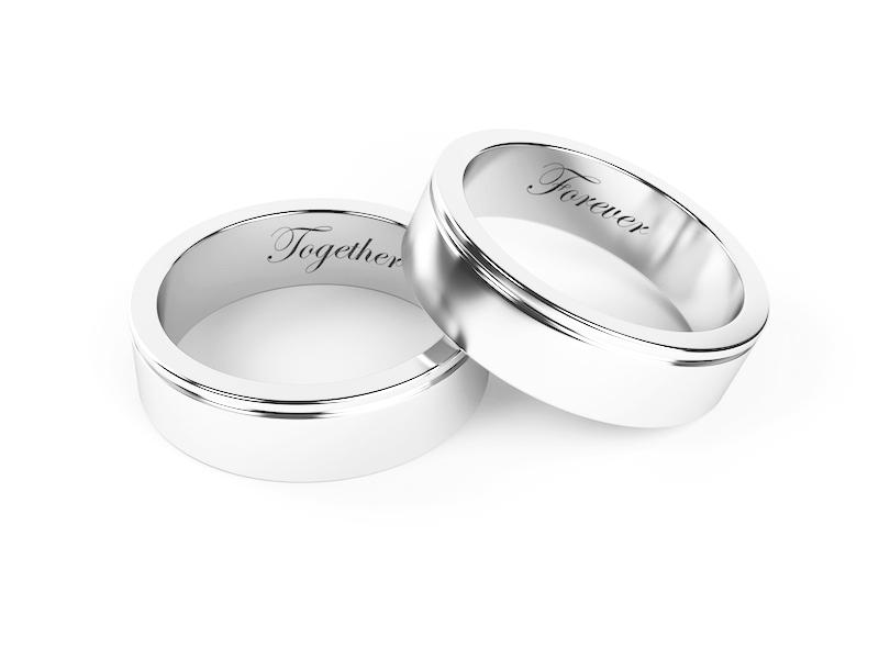 Wedding rings engraved inside ideas