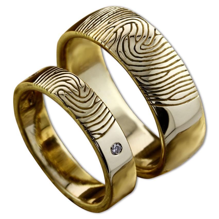 Fingerprint Wedding Rings Engagement Rings Dubai Diana
