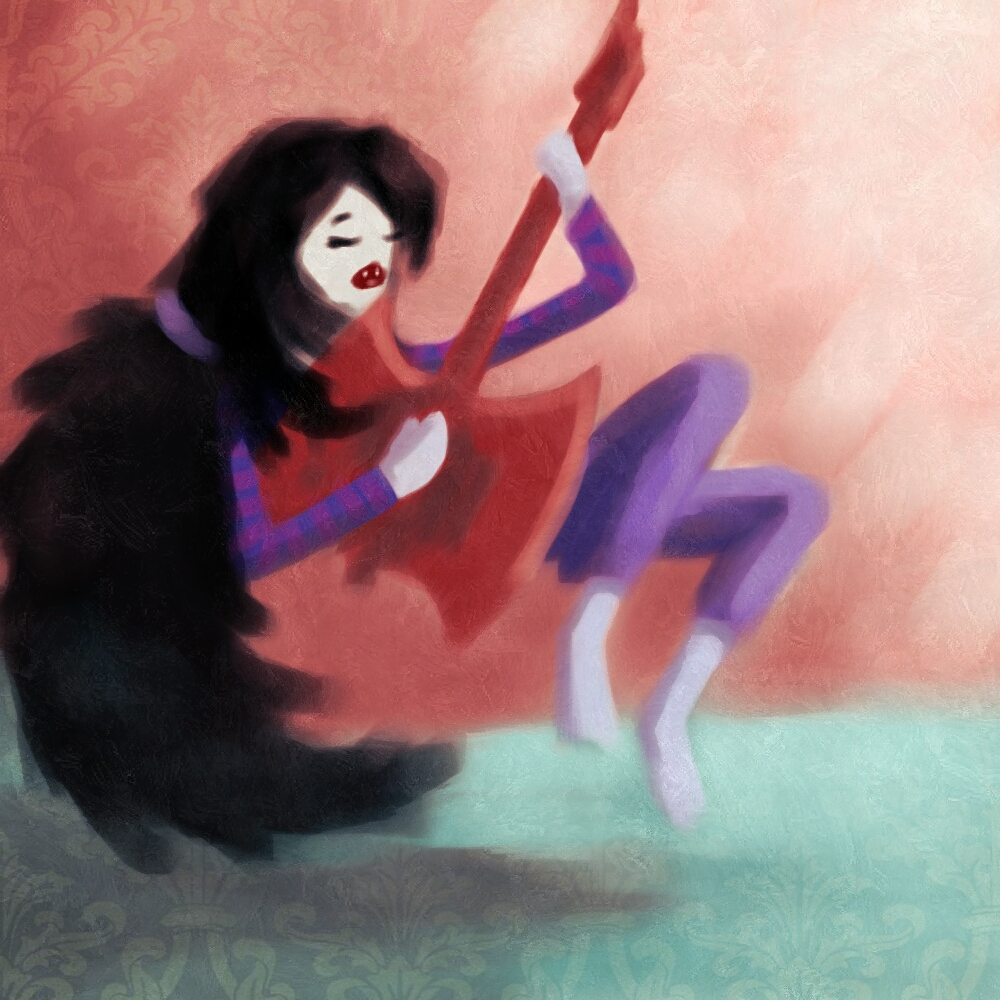 Marceline with her Axe bass