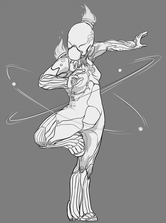 Warframe Nova Chibi Sketch