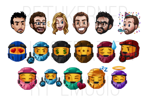 Emojis for the Rooster Teeth Website