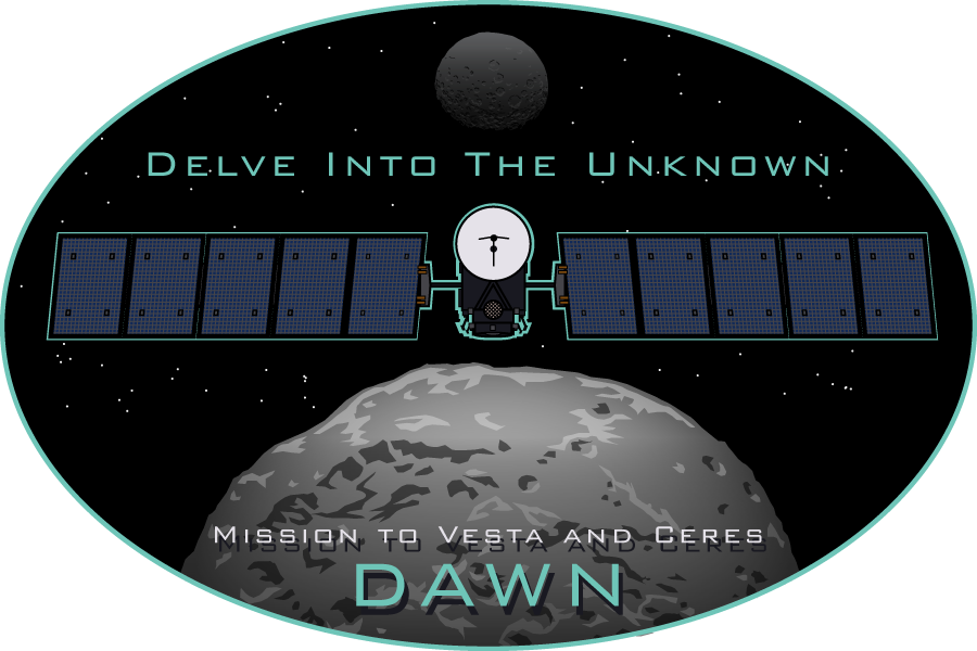 NASA's Dawn Mission Sticker Design