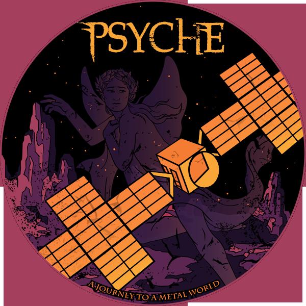 NASA's Psyche Mission Sticker Design
