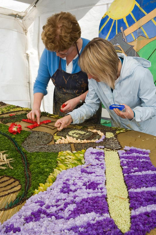 Well Dressing in the making