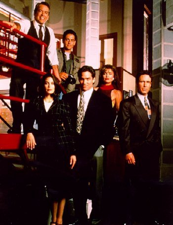 Lane smith, michael landes, teri hatcher, dean cain, tracy scroggins & john shea