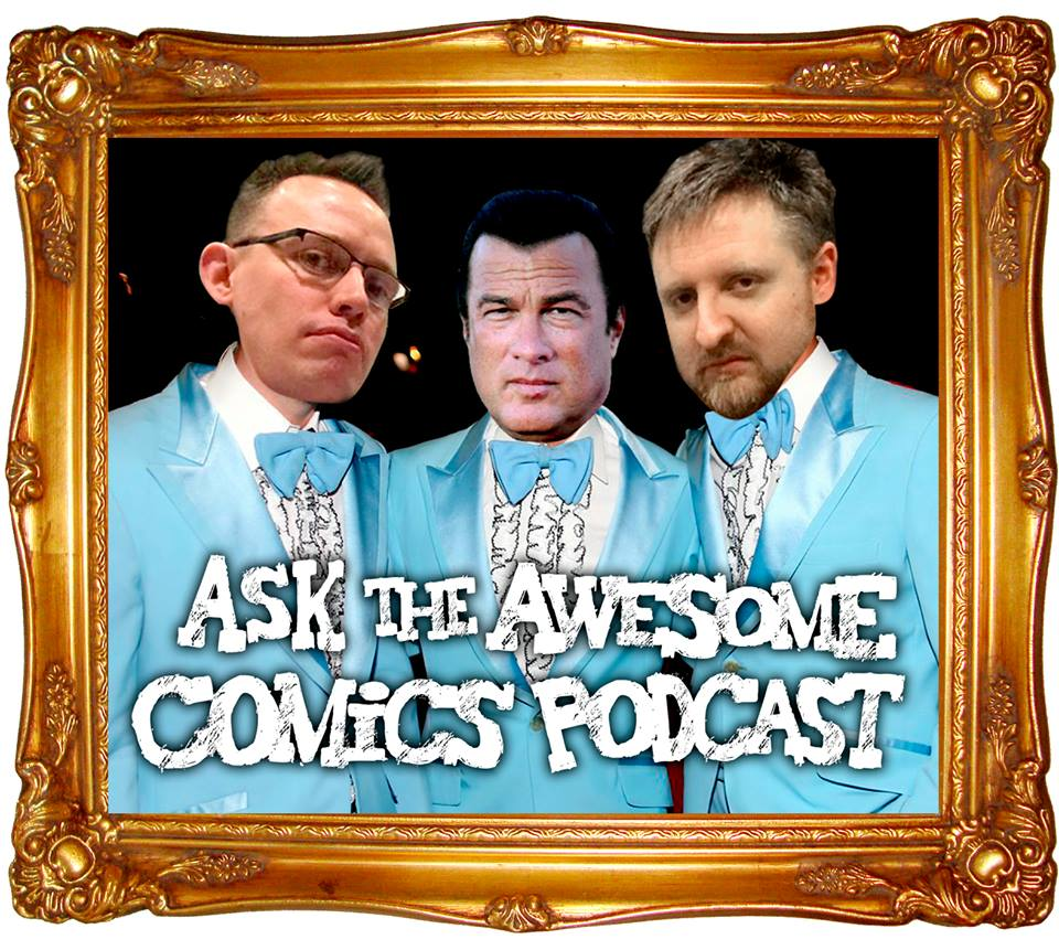 THE AWESOME COMICS PODCAST - The Awesome Pod Team are Vince Hunt (The Red Mask From Mars & Murder Road), Dan Butcher (Vanguard & Vyper) and Tony Esmond (amateur Steven Seagal lookalike & Cockney Kung-Fu).Their podcast (where small press and indie comics make a big noise) sees them talk about all aspects of comics and comic creating, as well as interviews with comic creators, artists and comic convention organisers.As well as their individual comic projects, they have collectively released their own anthology comic; The Awesome Comic.WEBSITE
