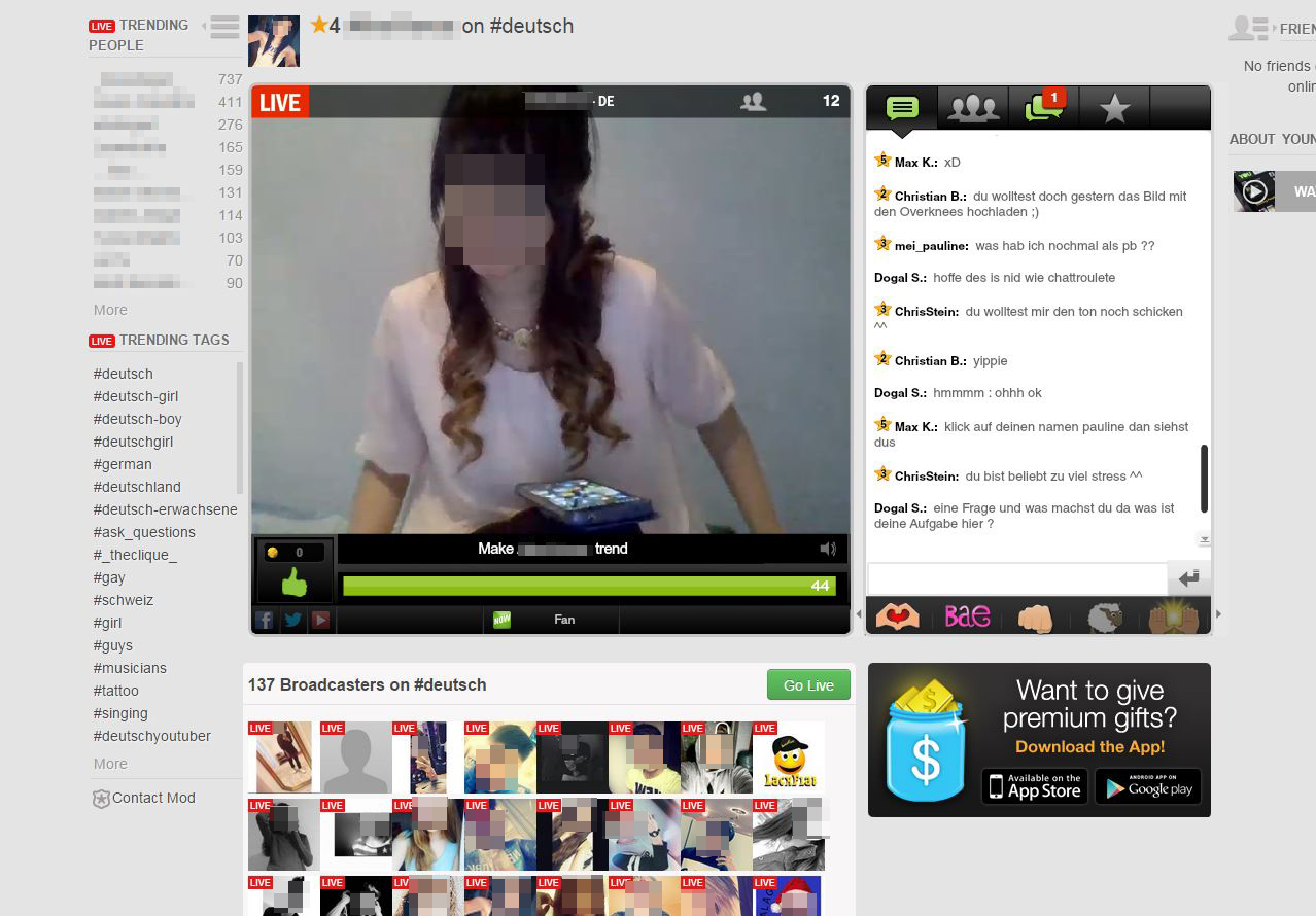 Screenshot YouNow