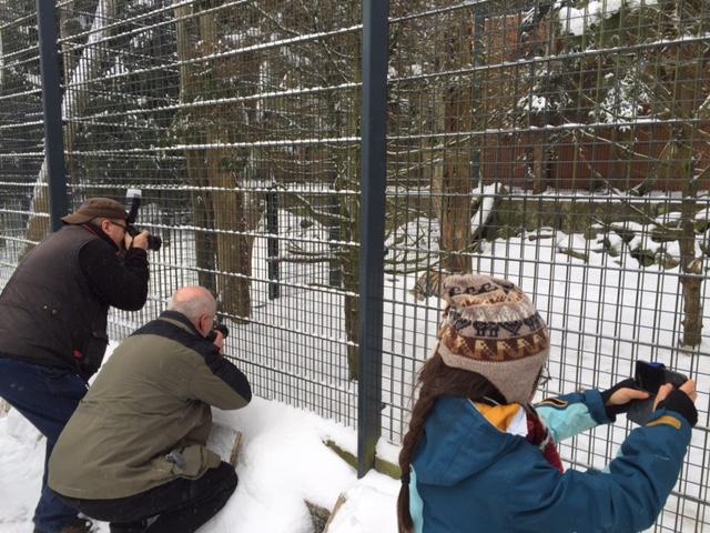 Auf Foto-Jagd: Maria und die Profis