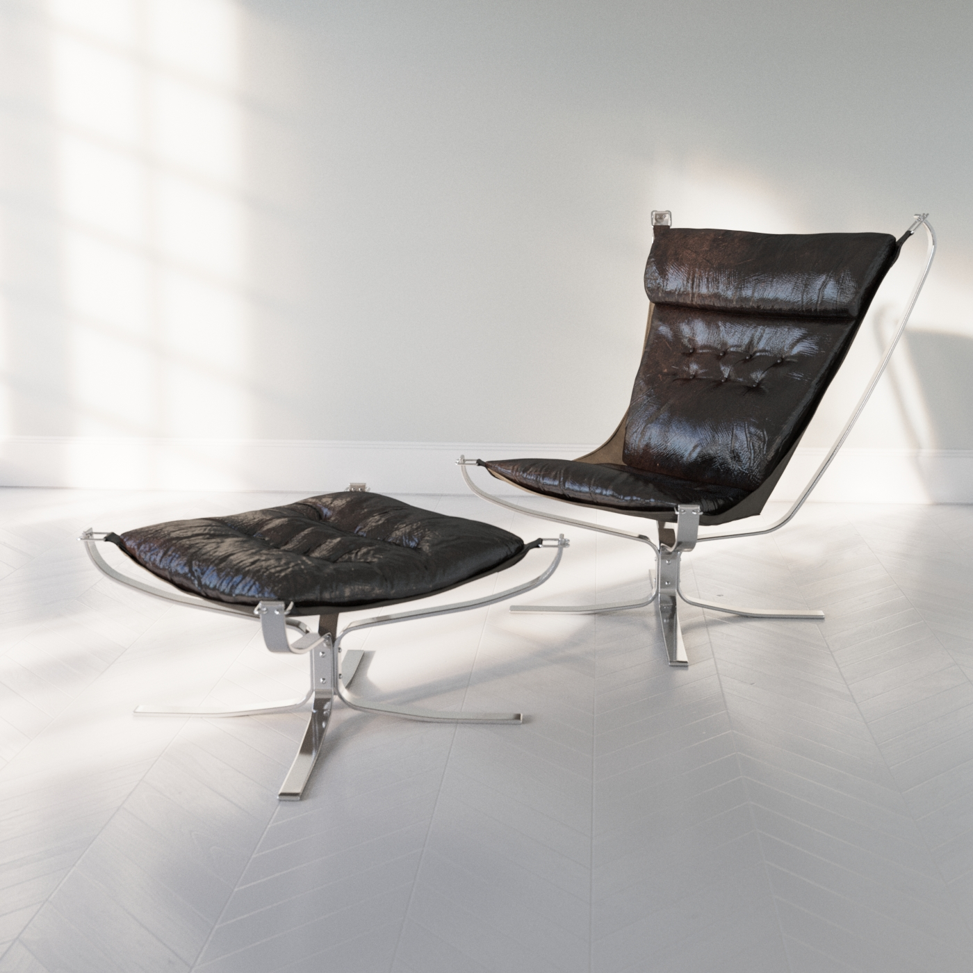 test render of a Sigurd Ressel Falcon chair using Corona A6