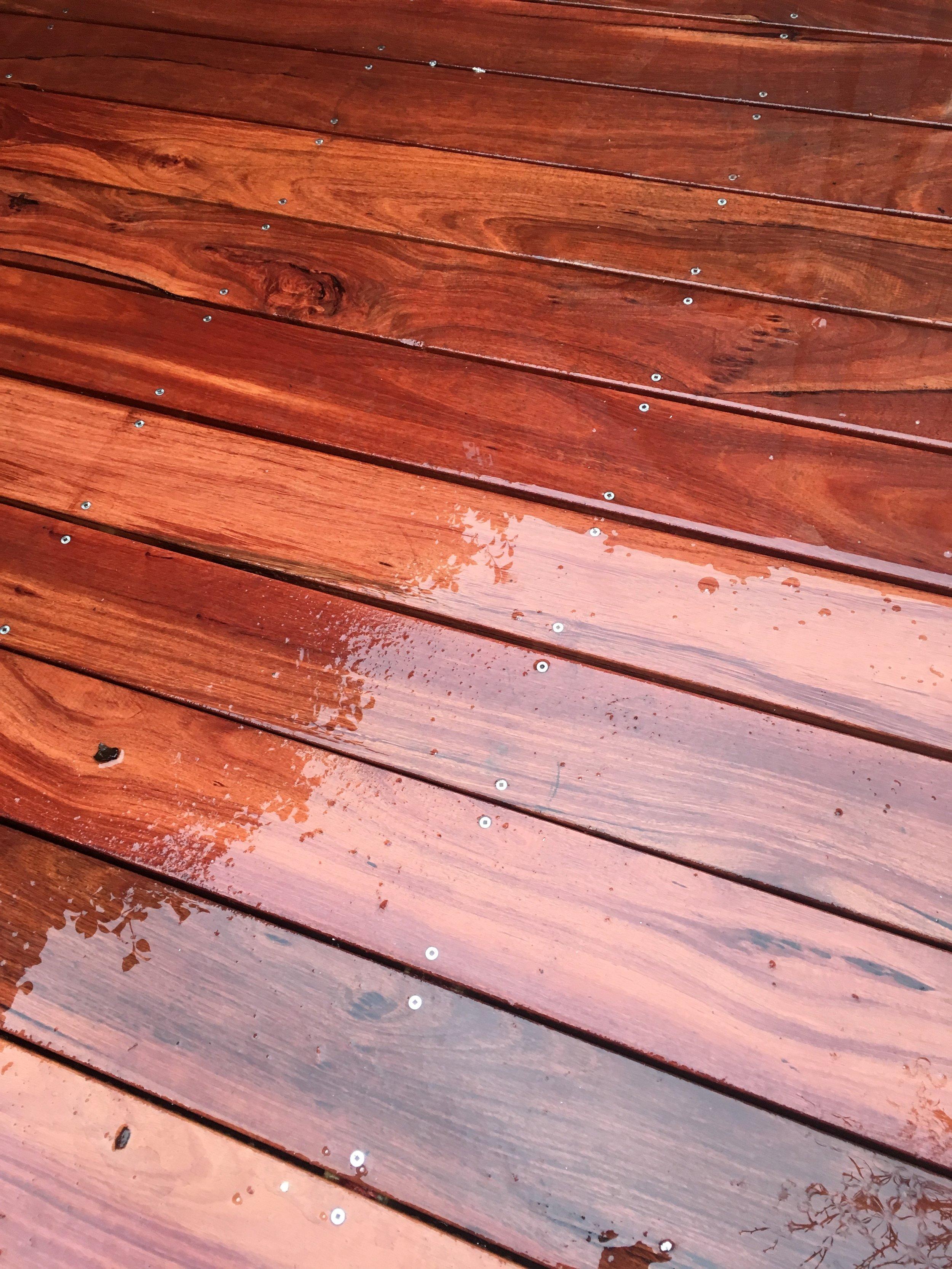 130x20 Jarrah Deck Boards. Countersunk Stainless Steel Screws.