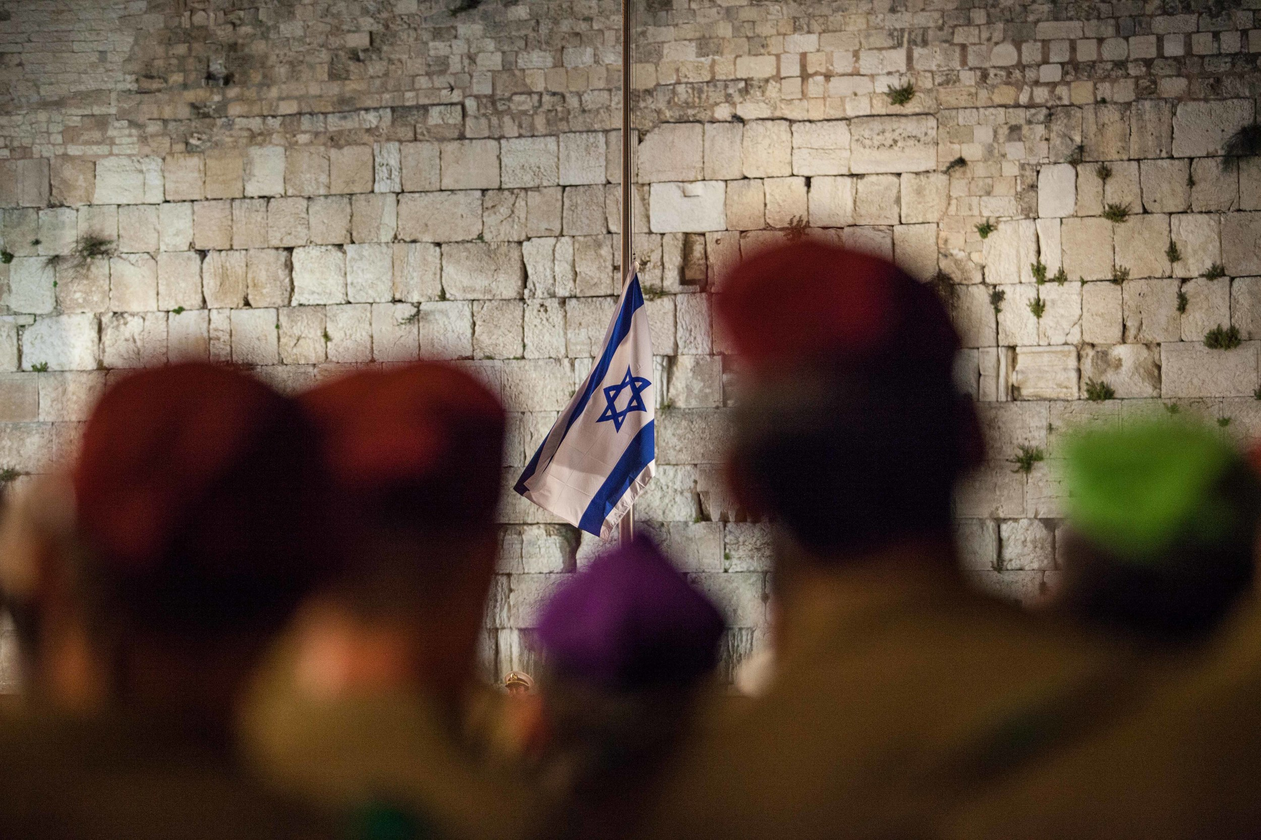 Annual ceremony on the night of Remembrance day at the Western Wall