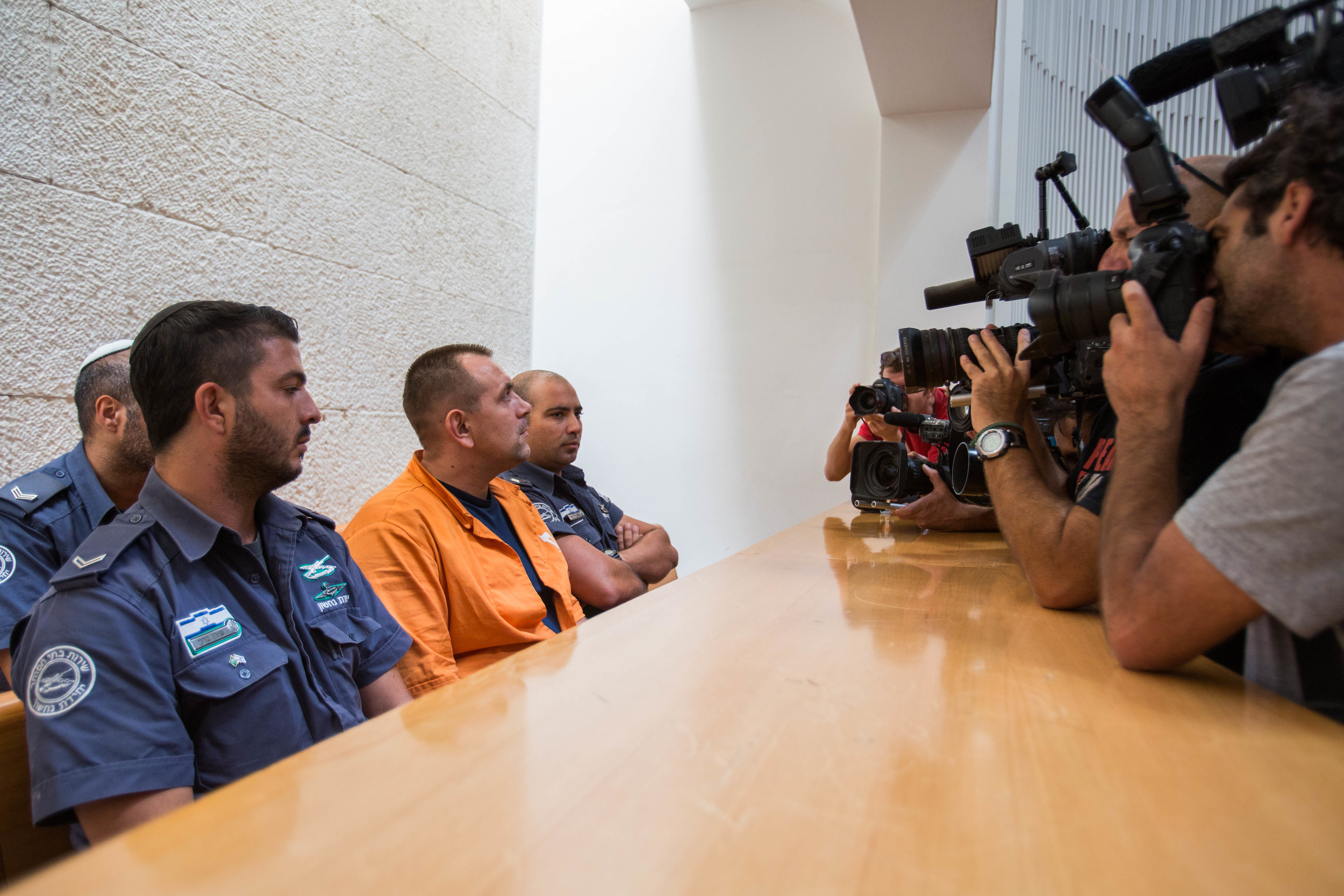 Convicted murderer Roman Zadorov is seen at the courtroom of the Supreme Court in Jerusalem