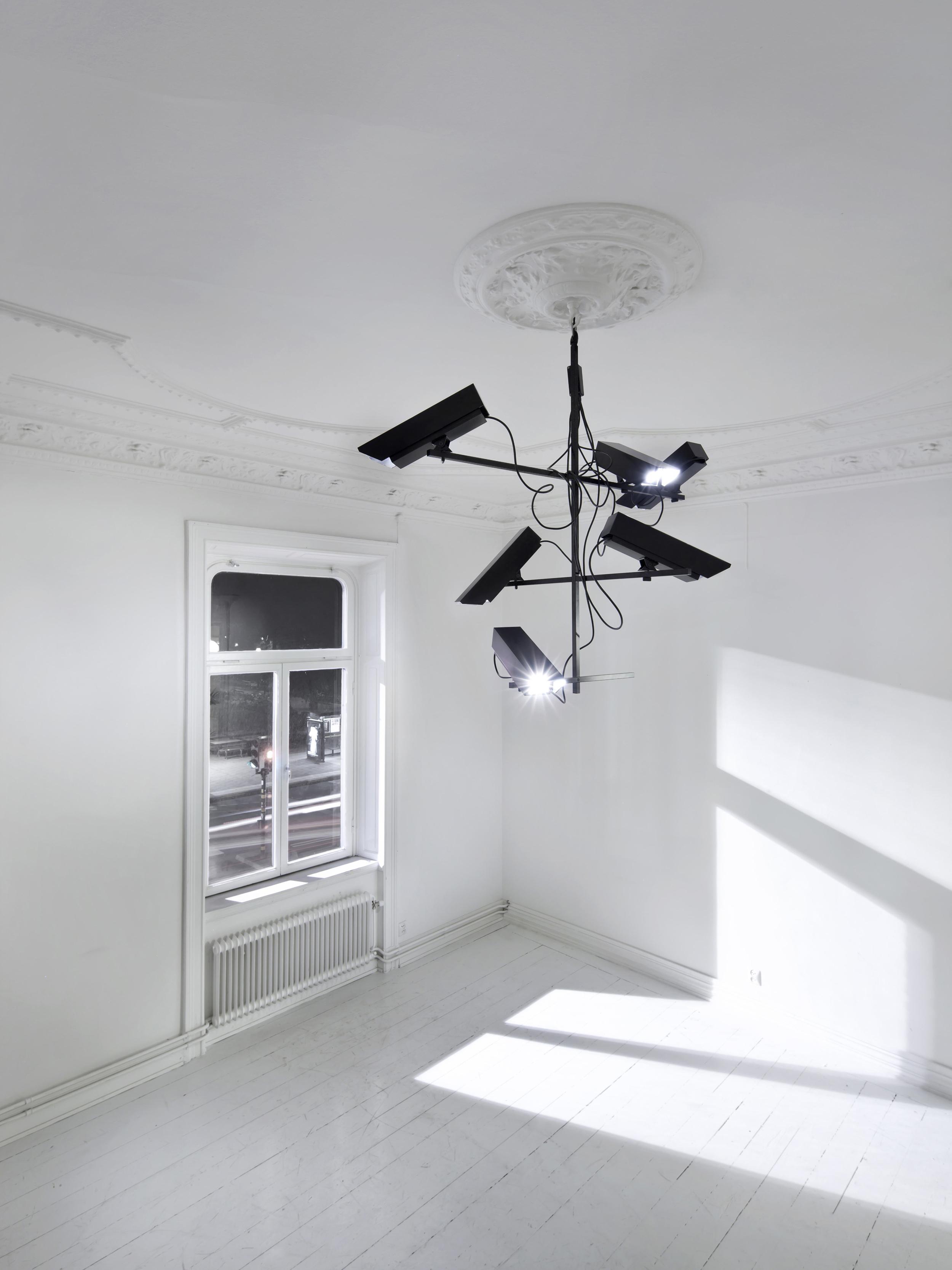 Surveillance Light Chandelier, 2011