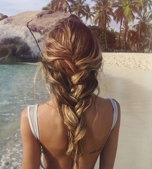 Loose mermaid braid