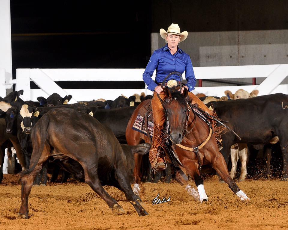 Travelin Miss Jonez - 2013 Mare by Travelin Jonez x Playin With Rubies owned by Steve Roseberry. 2017 Peptoboonsmal Open Derby Champion shown by Sarah Dawson.