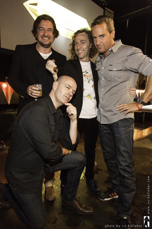 "McCann Melbourne Crew: Ash Farr, John Mescall, BenSational, & (kneeling) Patrick ""The"" Baron"