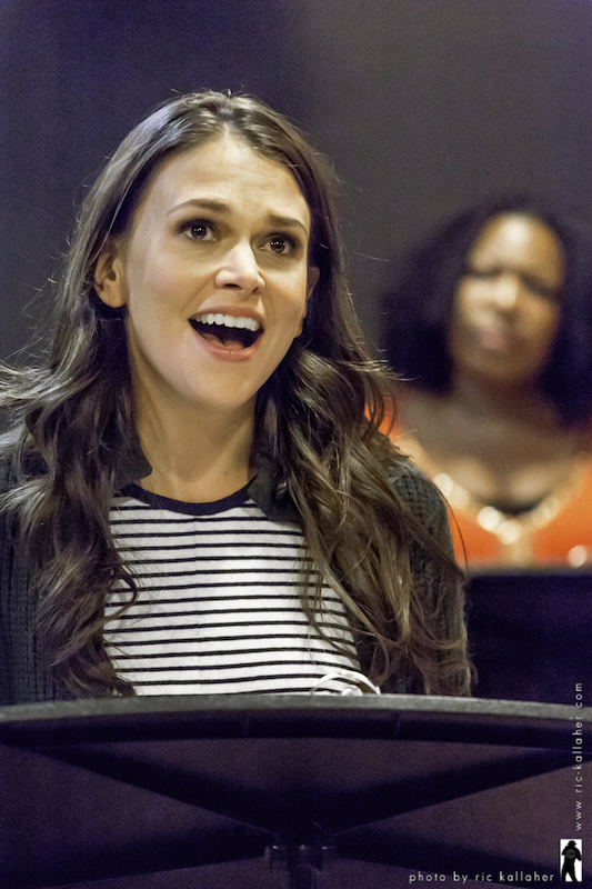"""Sutton Foster rehearsing for """"THE PROTAGONISTS"""", one of the entries at the 2013 NAMT 25th Anniversary program."""
