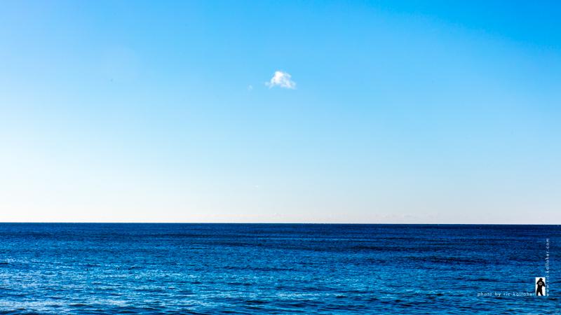 Blue Horizon Puffy Cloud