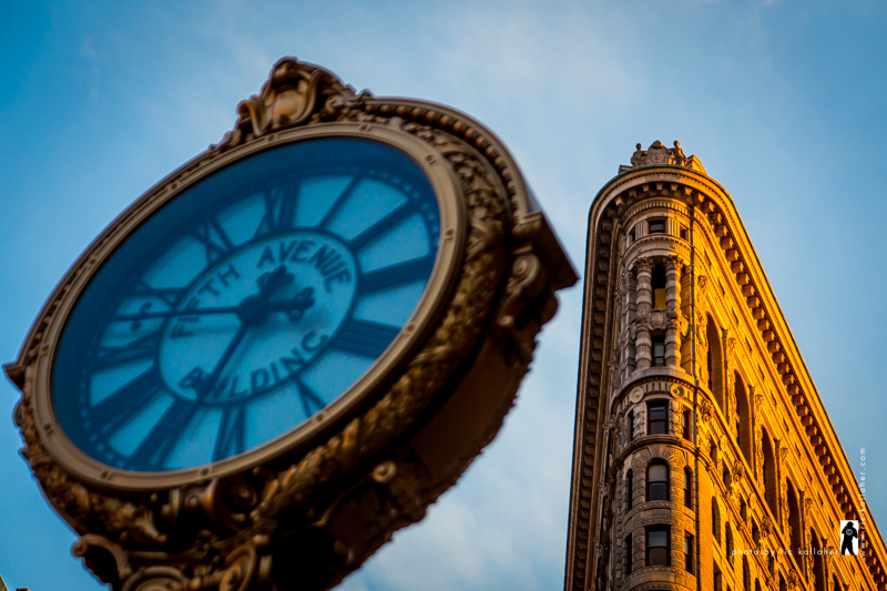 The Flatiron and Time, Blue & Gold
