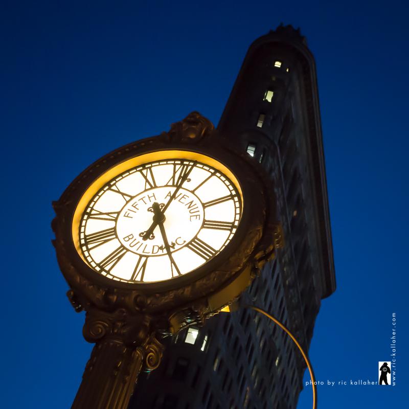 Flatiron and Time at Night