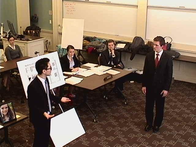 First Year Austin Worrell directs Second Year Kyle Denman as Investigator Jules Sebastian