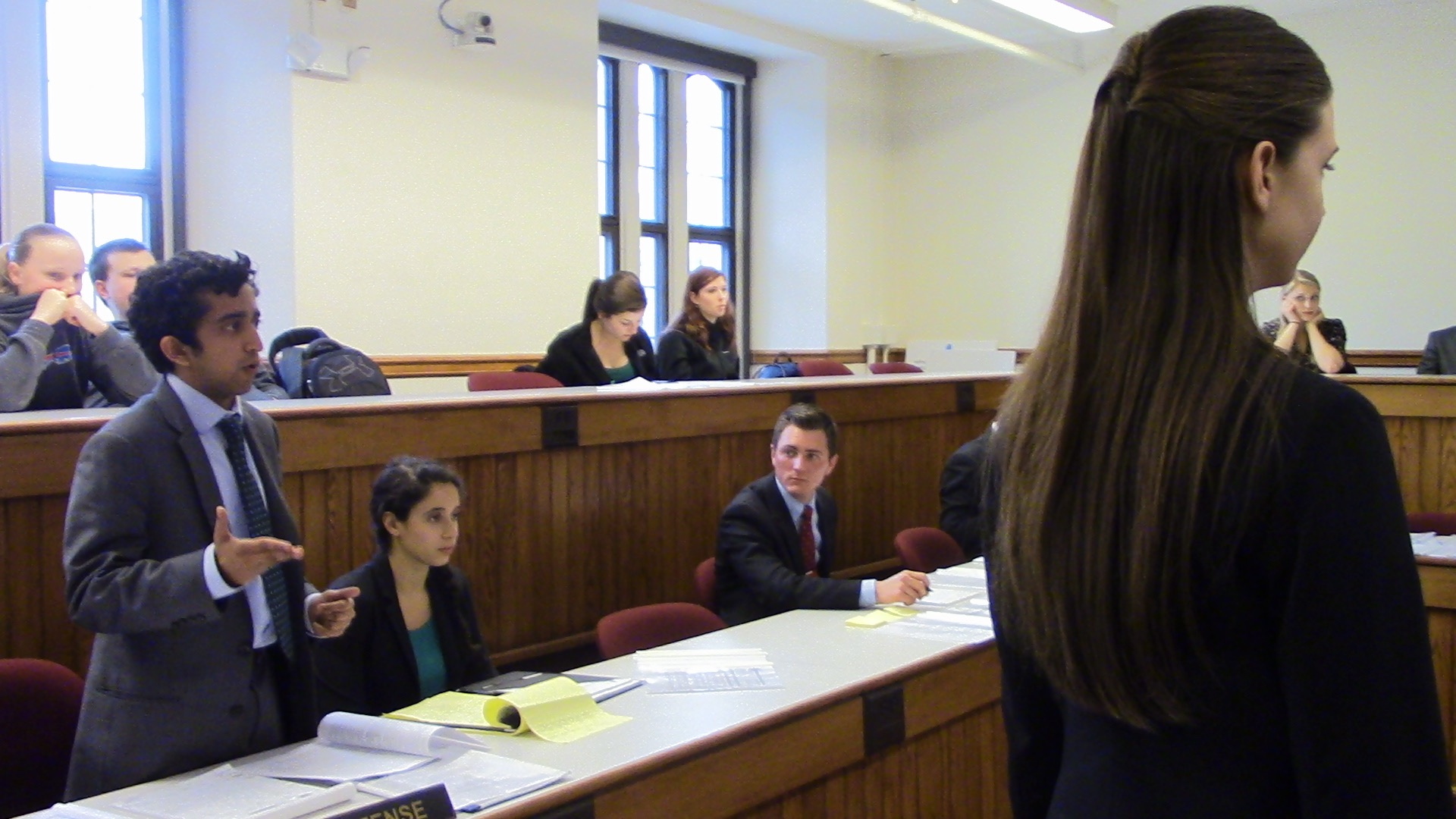Brown B objects to Sophomore Tarah Mason's cross-examination