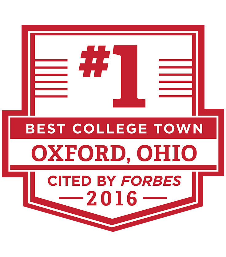 "Oxford, Ohio is the number one place to be. Robert Frost once identified our campus as ""the most beautiful campus that ever there was."" We agree and we think you will, too!"